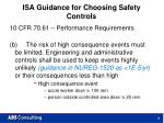 isa guidance for choosing safety controls