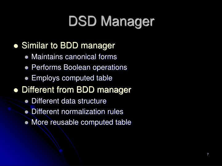 DSD Manager