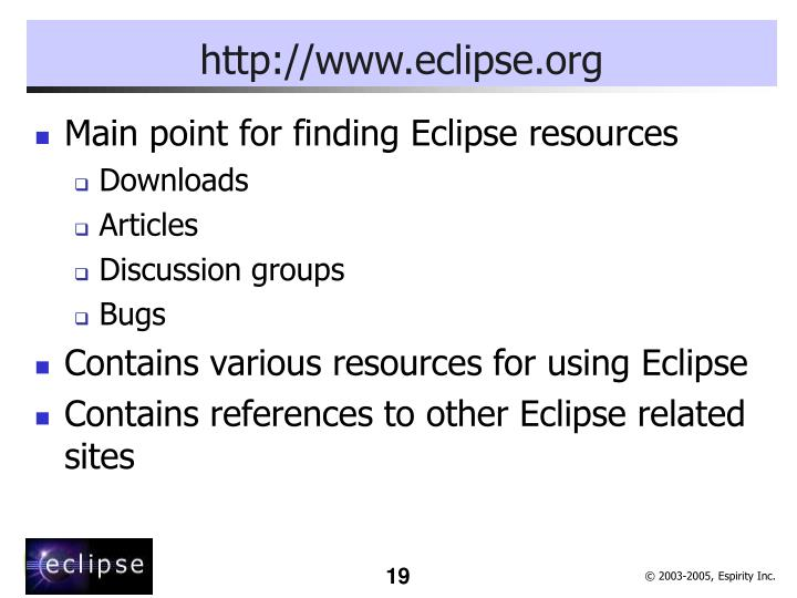 http://www.eclipse.org