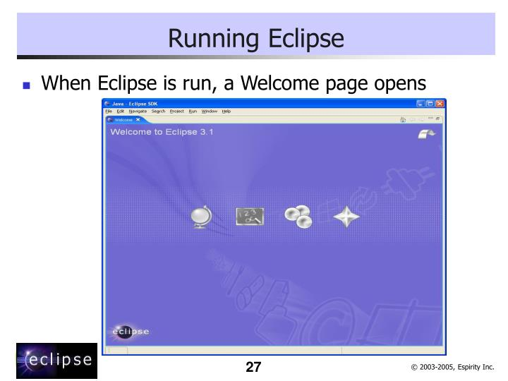 Running Eclipse