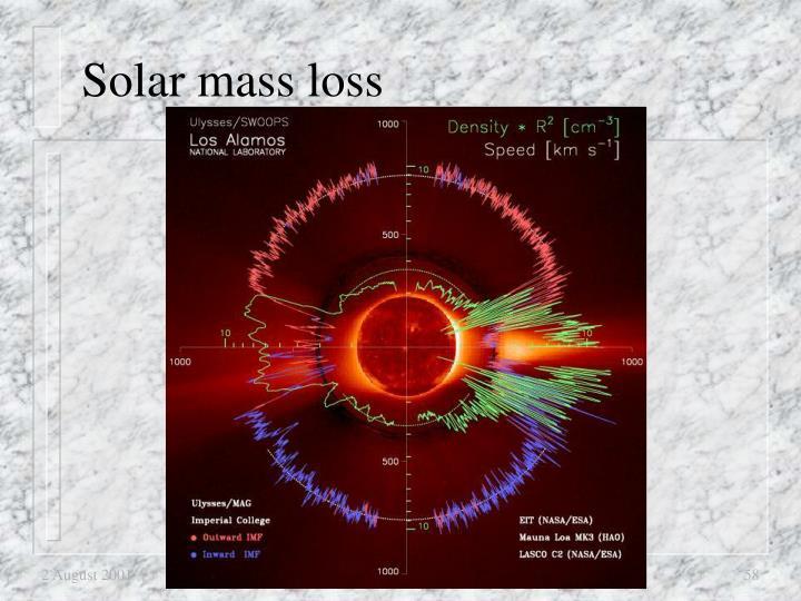 Solar mass loss