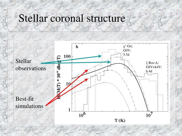 Stellar coronal structure