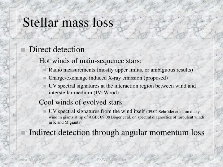 Stellar mass loss