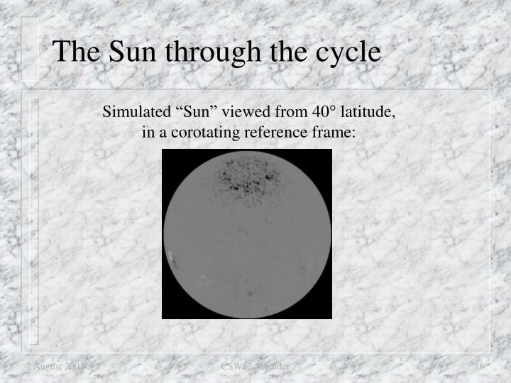 The Sun through the cycle