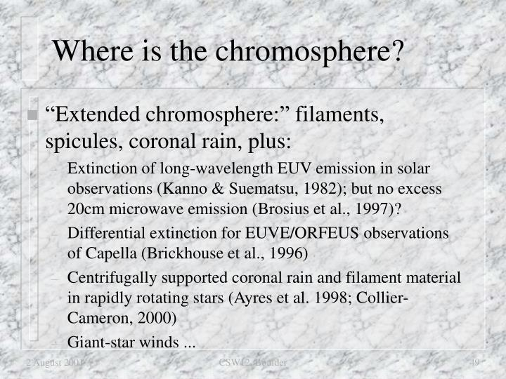 Where is the chromosphere?