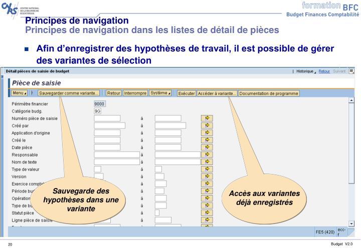 Principes de navigation