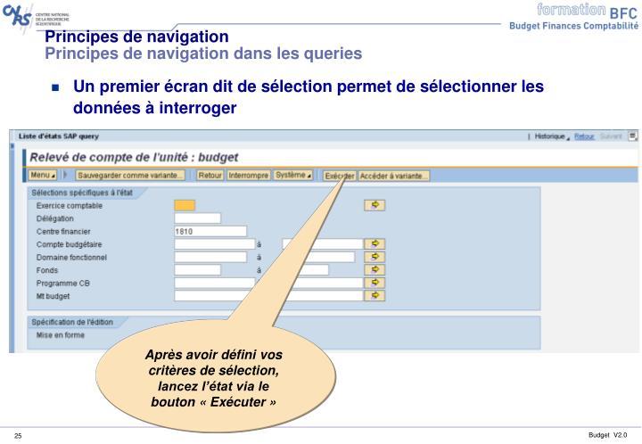 Après avoir défini vos critères de sélection, lancez l'état via le bouton «Exécuter»