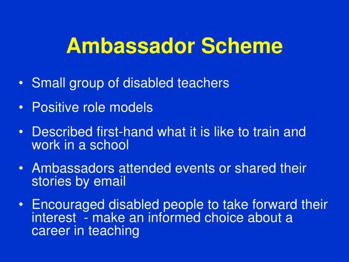 Ambassador Scheme