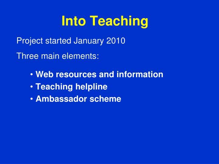 Into Teaching