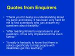 quotes from enquirers