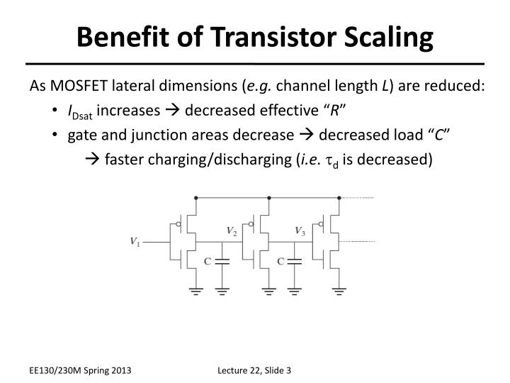 Benefit of transistor scaling