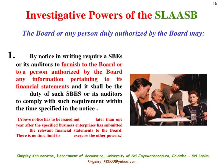 Investigative Powers of the