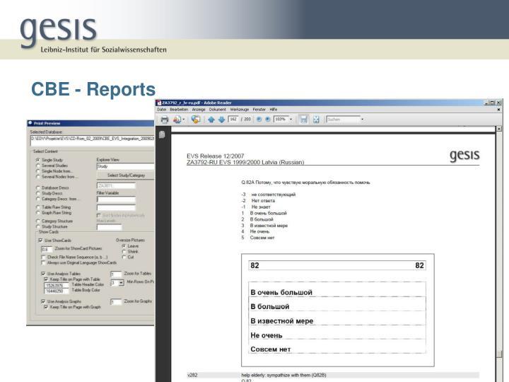 CBE - Reports