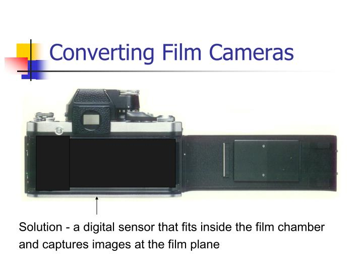 Solution - a digital sensor that fits inside the film chamber