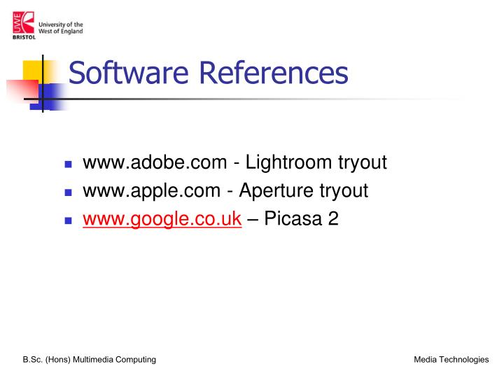 Software References