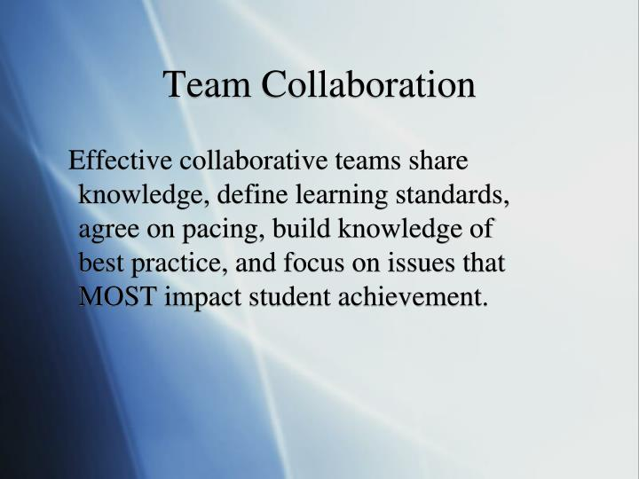 Team Collaboration