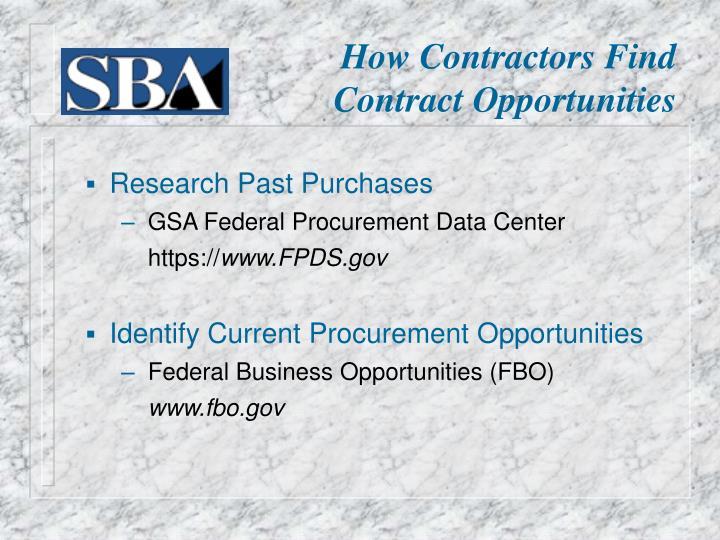 How Contractors Find