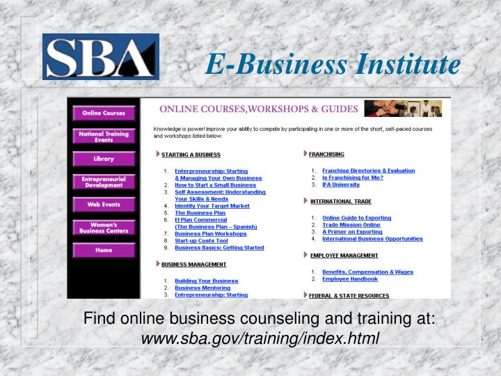 E-Business Institute
