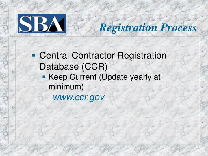 Central Contractor Registration Database (CCR)
