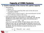 capacity of cdma systems1