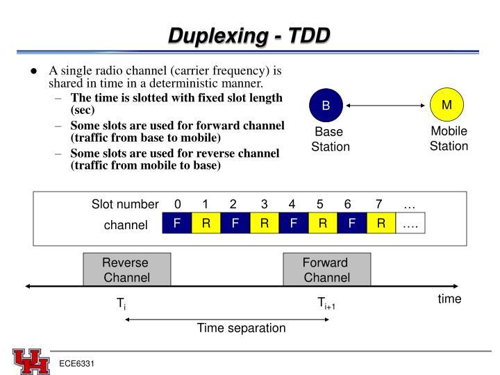 Duplexing - TDD