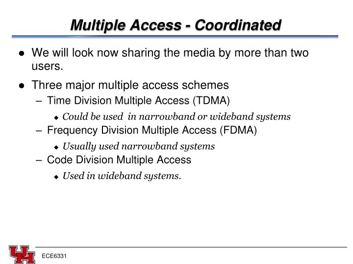 Multiple Access - Coordinated