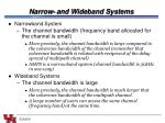 narrow and wideband systems