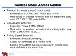 wireless media access control