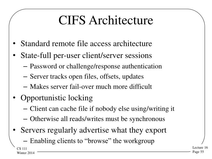 CIFS Architecture