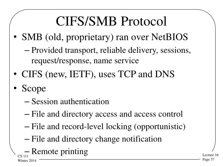 CIFS/SMB Protocol