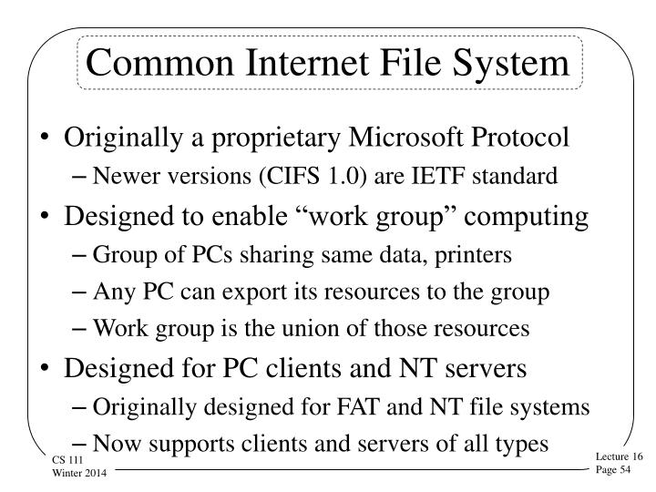 Common Internet File System