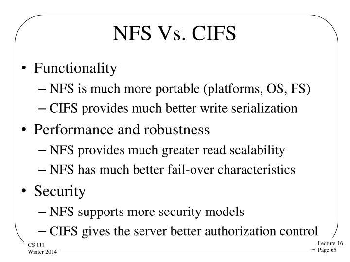 NFS Vs. CIFS