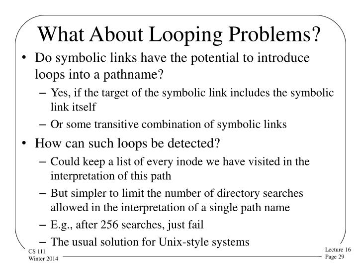 What About Looping Problems?