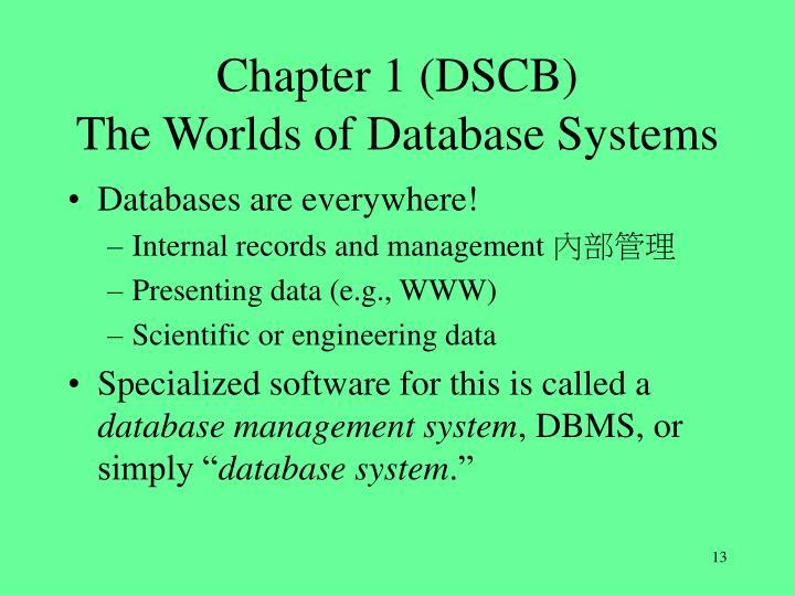 Chapter 1 (DSCB)
