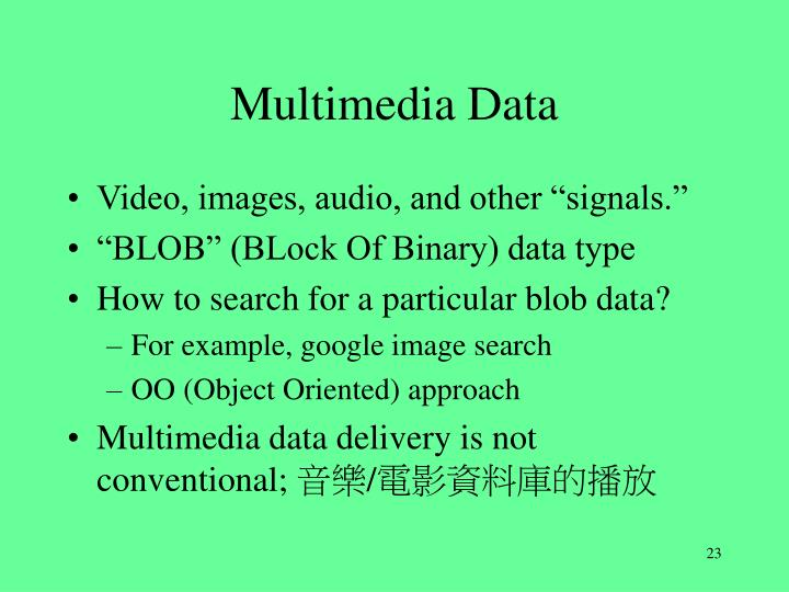 Multimedia Data