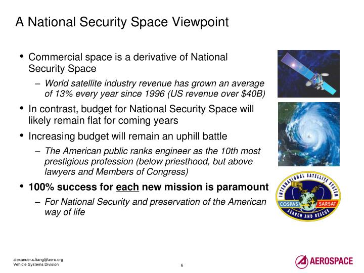 A National Security Space Viewpoint