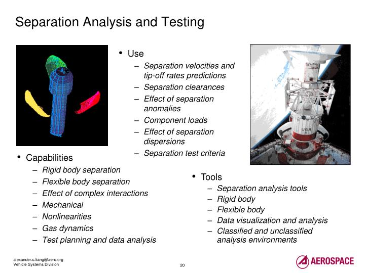 Separation Analysis and Testing