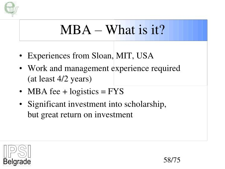 MBA – What is it?
