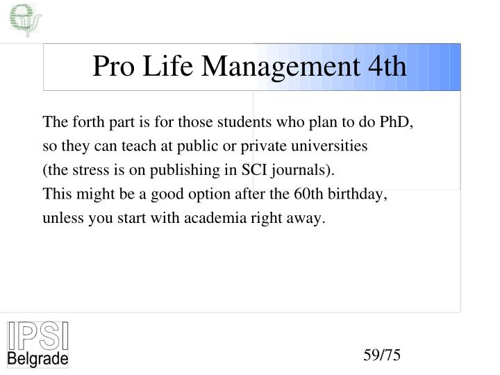 Pro Life Management 4th