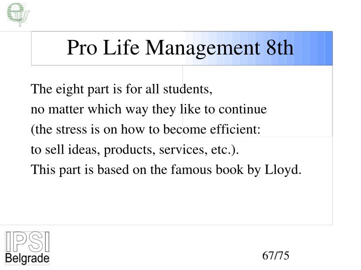 Pro Life Management 8th