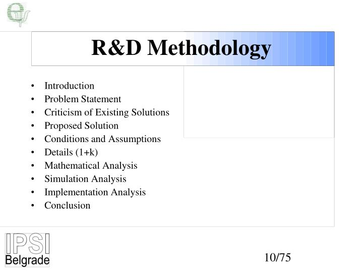 R&D Methodology