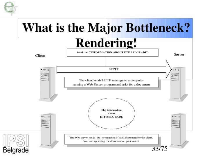 What is the Major Bottleneck?