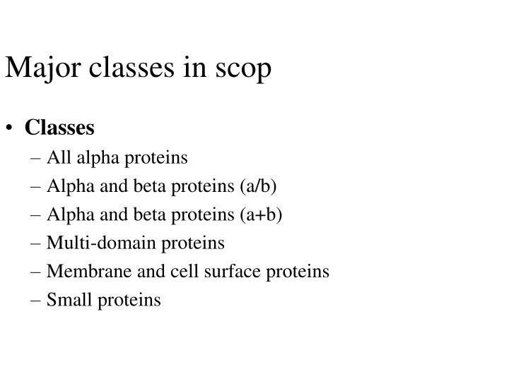 Major classes in scop