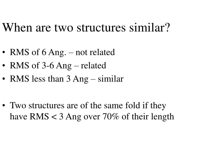 When are two structures similar?