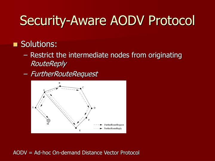 Security-Aware AODV Protocol