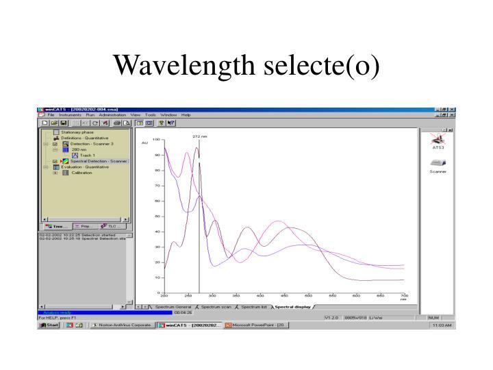 Wavelength selecte(o)