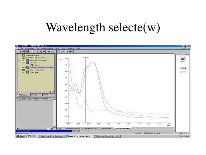 Wavelength selecte(w)