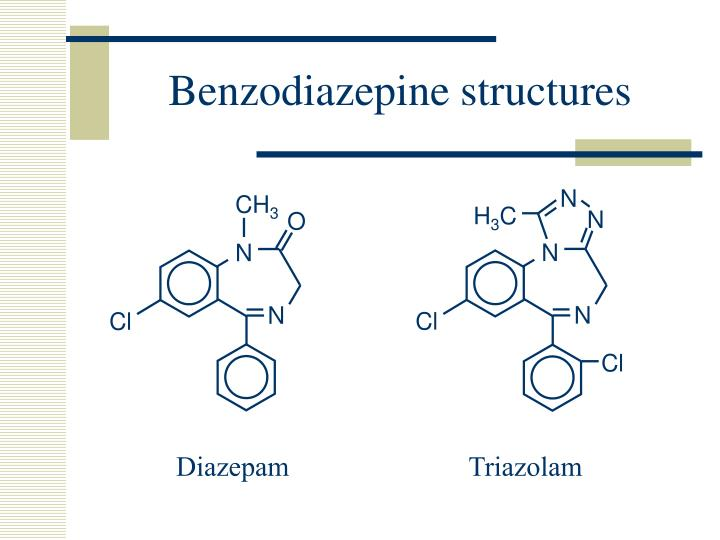 Benzodiazepine structures