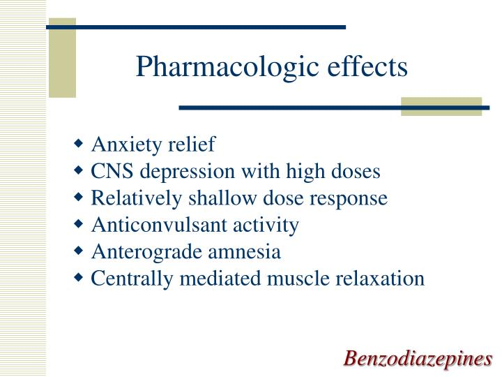 Pharmacologic effects