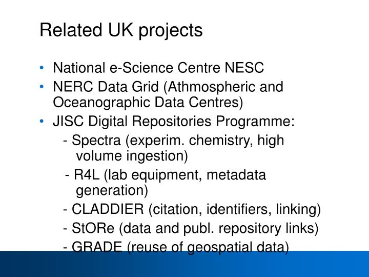 Related UK projects